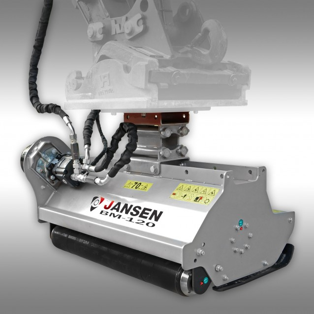 Kraanmaaier Jansen BM-120, hydraulisch, minikraan, klepelmaaier