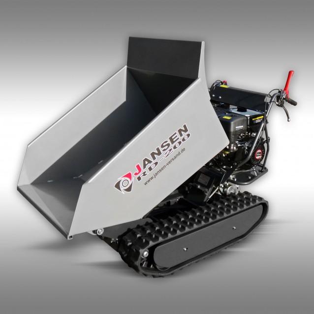 Raupendumper Jansen RD-200, hydraulische Mulde, 10PS Benzinmotor