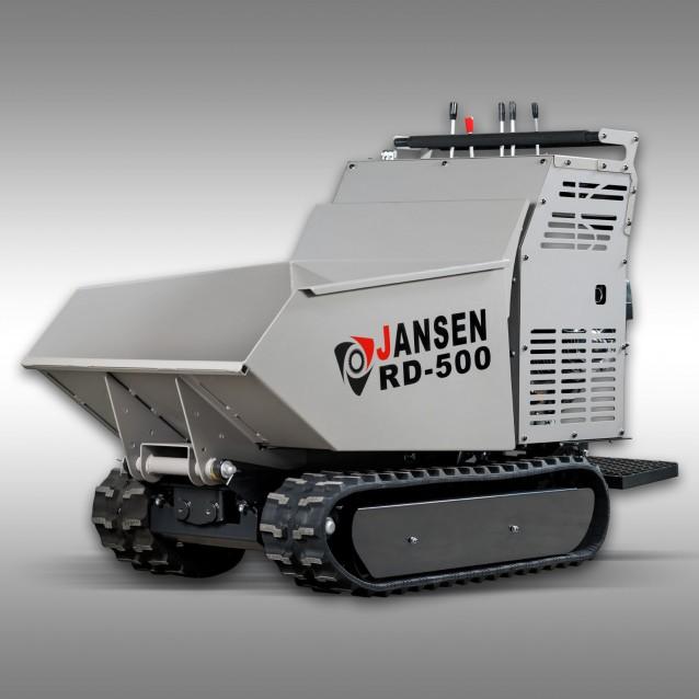 Rupsdumper Jansen RD-500, 9 PK benzinemotor, hydrostatisch