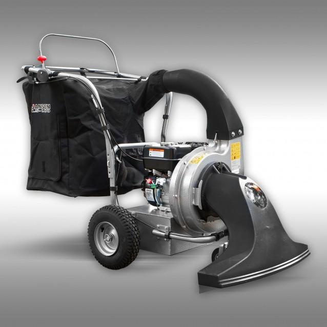 Bladzuiger Jansen LS-100, 6,5 PK benzine, vervoerbaar, afvalzuiger, zuigslang