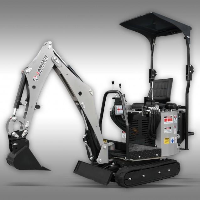 Minigraafmachine Jansen MB-1500, micrograafmachine, benzinemotor, complete set