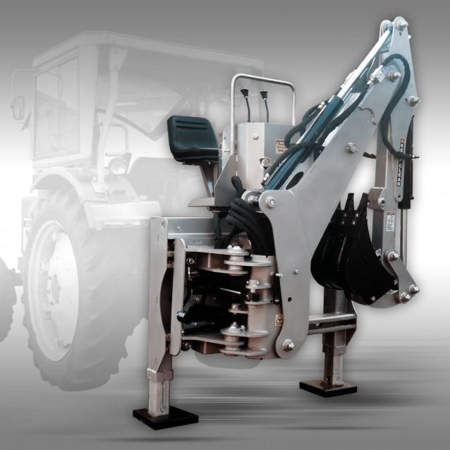 Tractor Graafmachine Jansen BHSM-225 incl. 400 mm graafbak, graaflaadmachine