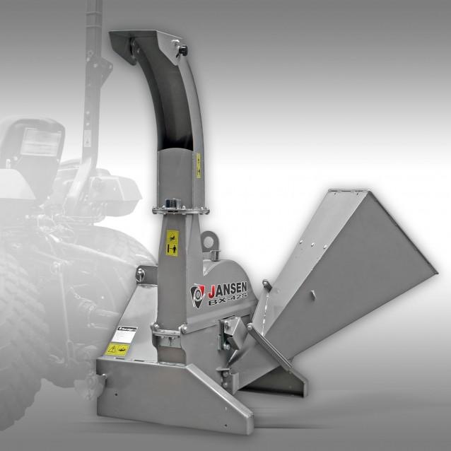 Tractor Shredder Jansen BX-42S, tuin- + groenafval hakselaar, 3-Punt-hakselaar