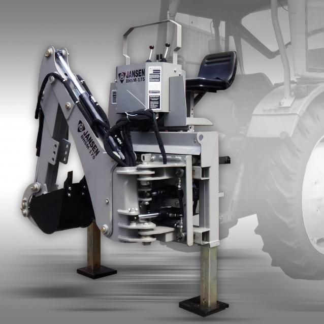 Graafmachine Jansen BHSM-175 incl. 300 mm graafbak, graaflaadmachine